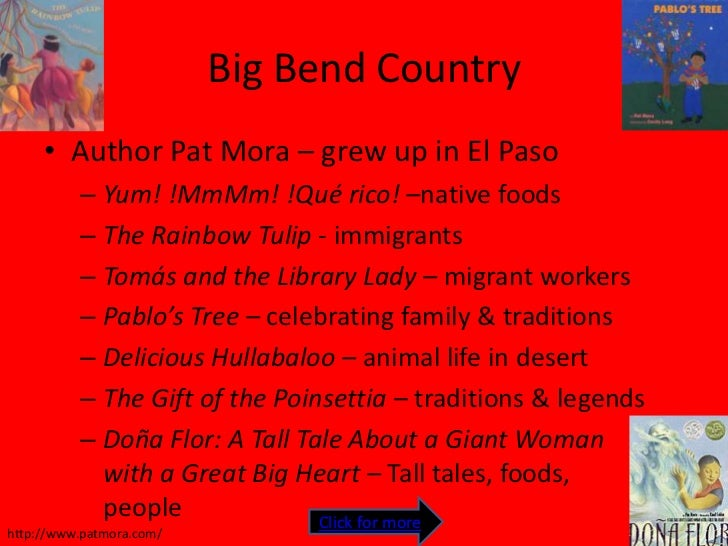 immigrants by pat mora (official site) meet this author of books for all ages, presenter, literacy advocate and founder of día: children's day, book day.