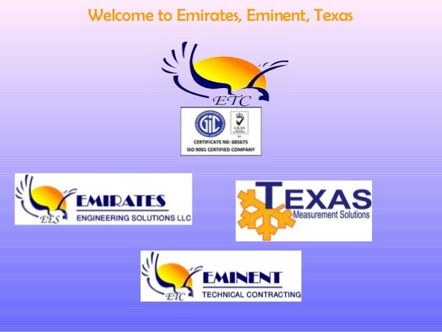Welcome to Emirates, Eminent, Texas