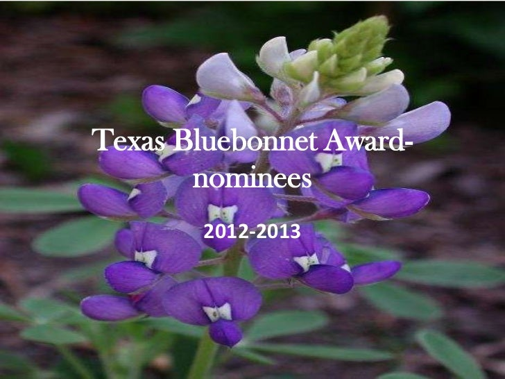 Texas Bluebonnet Award-       nominees       2012-2013