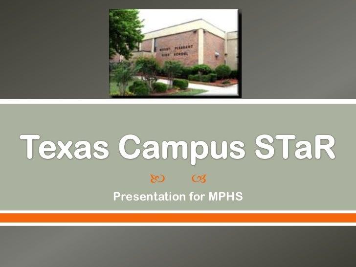      Presentation for MPHS