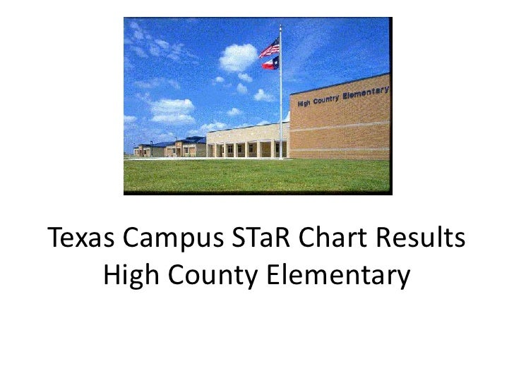 Texas Campus STaR Chart ResultsHigh County Elementary<br />