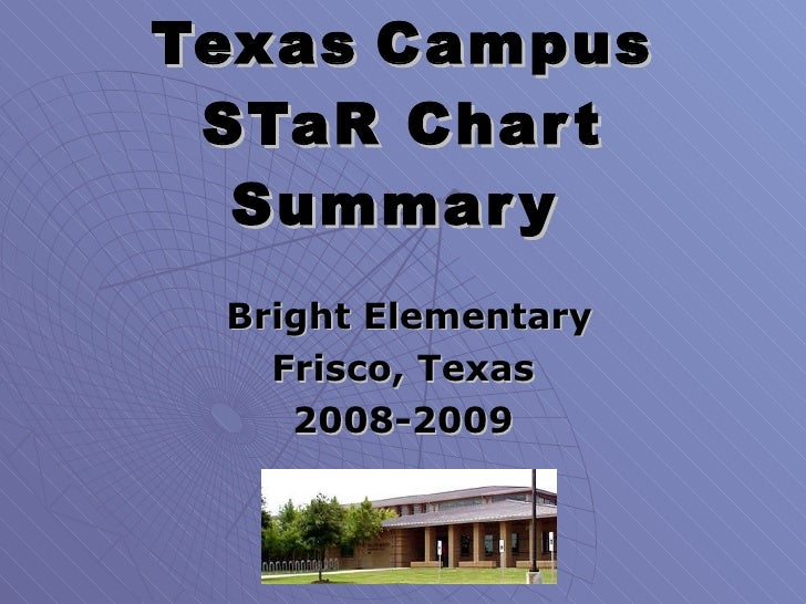 Texas   Campus STaR Chart Summary   Bright Elementary Frisco, Texas 2008-2009