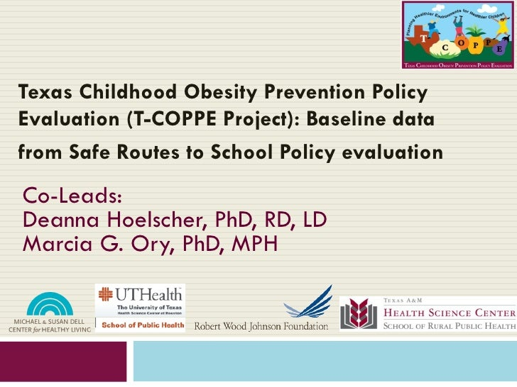 Texas Childhood Obesity Prevention PolicyEvaluation (T-COPPE Project): Baseline datafrom Safe Routes to School Policy eval...