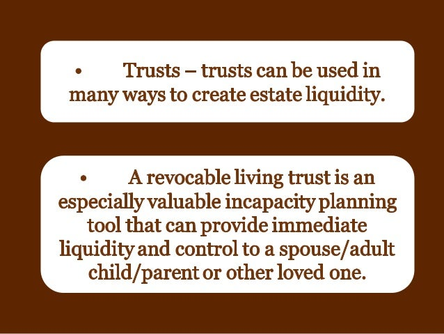 Texas Estate Liquidity Why It S Important