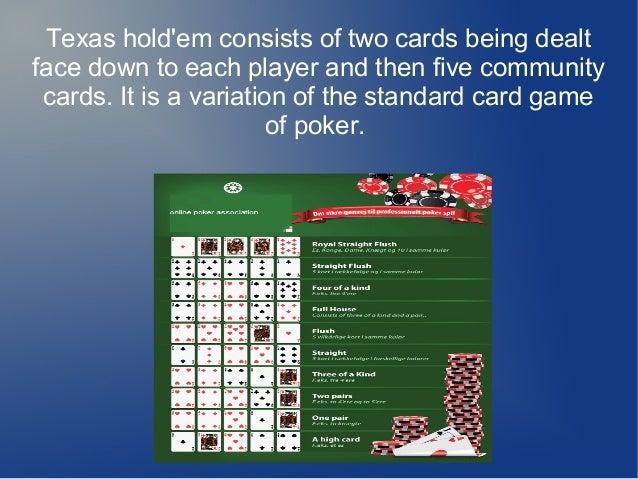 texas holdem poker rules pdf