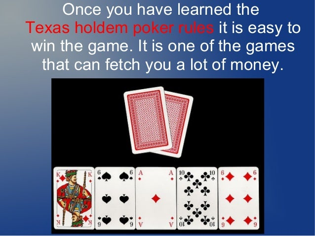 how to play texas holdem poker rules