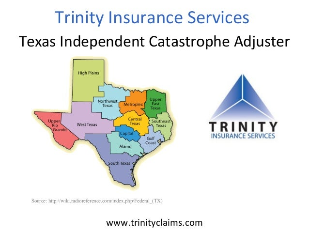 TrinityInsuranceServices TexasIndependentCatastropheAdjuster  Source: http://wiki.radioreference.com/index.php/Feder...