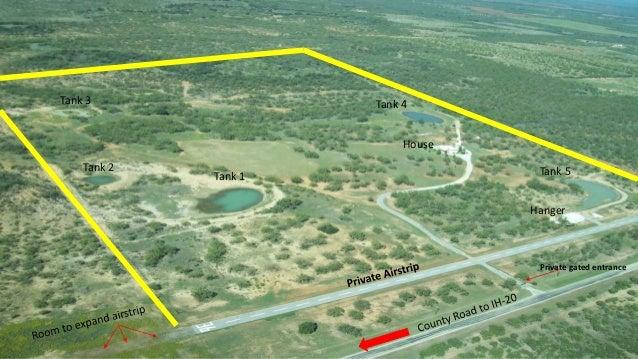House Texas Ranch For Sale 83 Ac Private Airstrip Hangar Home 100