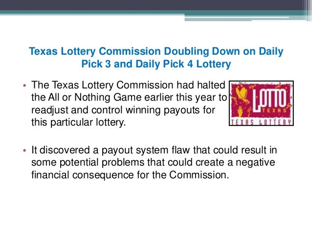 Texas Daily Pick 3 And Daily Pick 4 Lottery News
