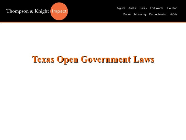 Texas Open Government Laws