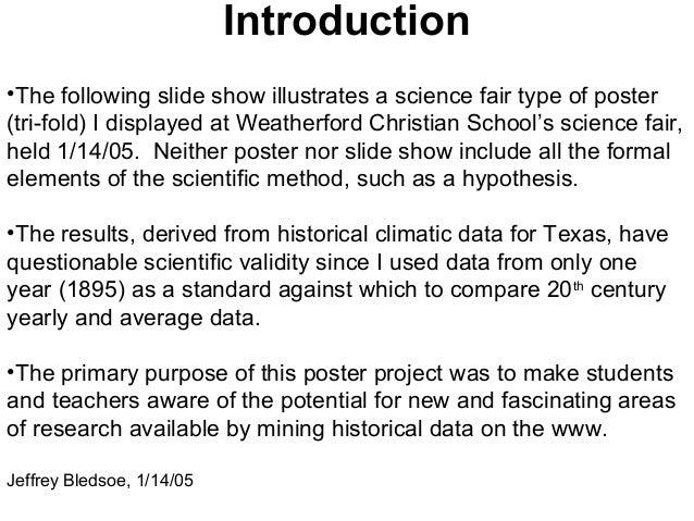 science fair presentation at weatherford christian school texas ja
