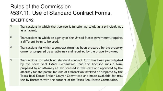 Texas Promulgated Contract Forms
