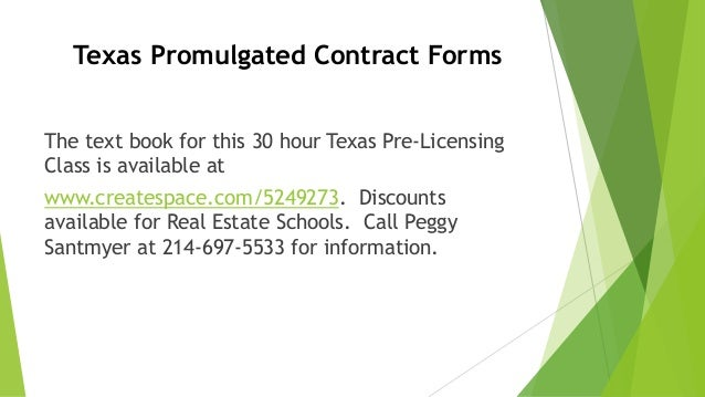 Texas Promulgated Contract Forms 3 638gcb1450497185
