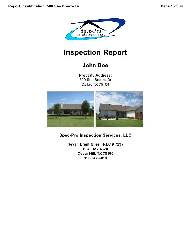 Report Identification: 500 Sea Breeze Dr                         Page 1 of 39                                    Inspectio...