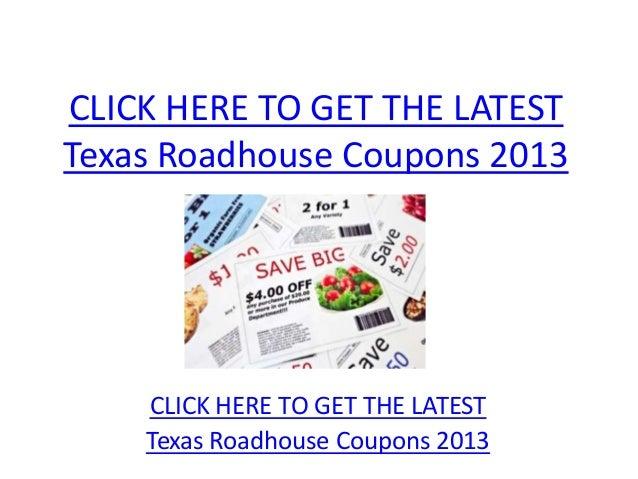 graphic regarding Texas Roadhouse Printable Coupon titled Texas Roadhouse Discount codes 2013 - Printable Texas Roadhouse