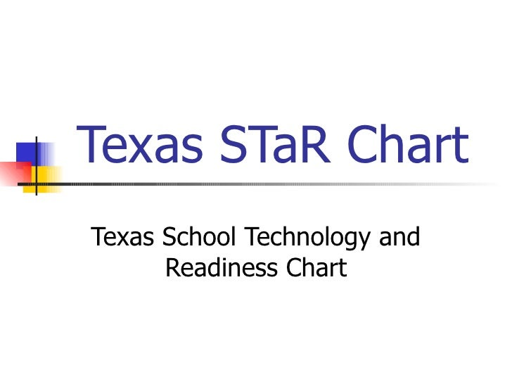 Texas STaR Chart Texas School Technology and Readiness Chart