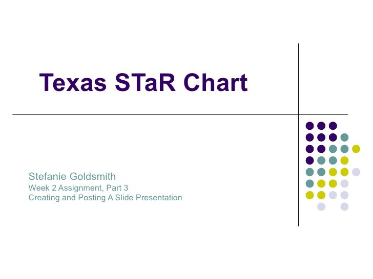 Texas STaR Chart Stefanie Goldsmith Week 2 Assignment, Part 3 Creating and Posting A Slide Presentation
