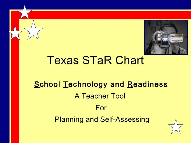Texas STaR Chart S chool  T echnology and  R eadiness A Teacher Tool  For Planning and Self-Assessing
