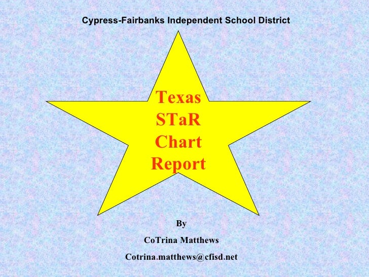 Texas STaR Chart Report Cypress-Fairbanks   Independent School District By CoTrina Matthews [email_address]