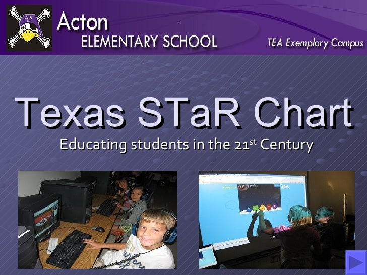 Texas STaR Chart Educating students in the 21 st  Century