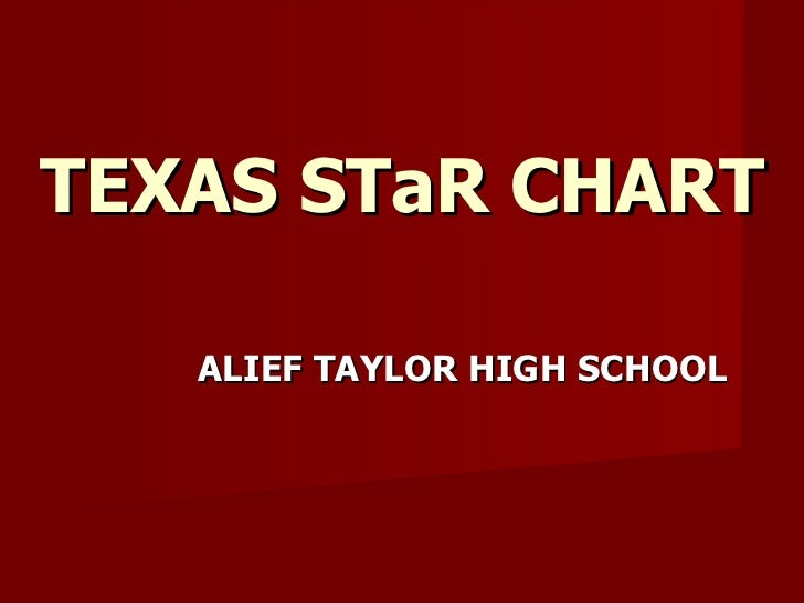 TEXAS STaR CHART ALIEF TAYLOR HIGH SCHOOL