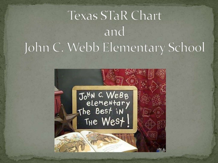Texas STaR Chart and John C. Webb Elementary School <br />