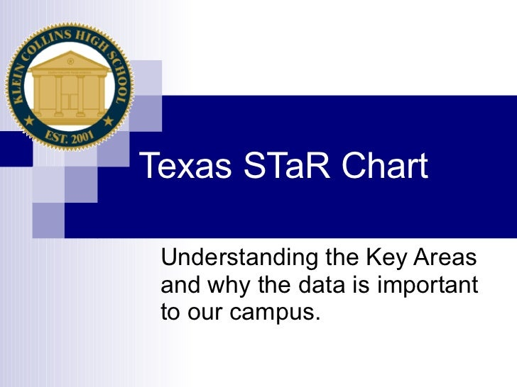 Texas STaR Chart Understanding the Key Areas and why the data is important to our campus.
