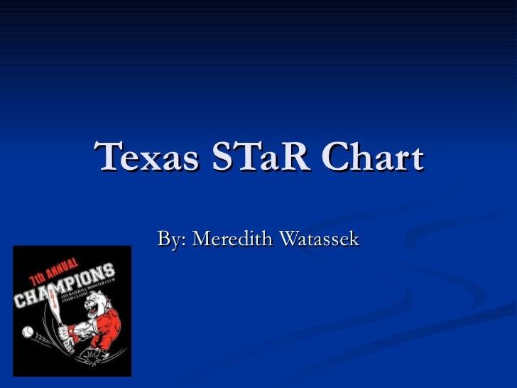 Texas STaR Chart By: Meredith Watassek