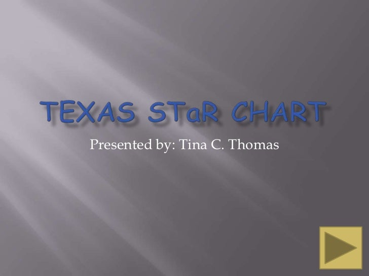 Texas STaR Chart<br />Presented by: Tina C. Thomas<br />