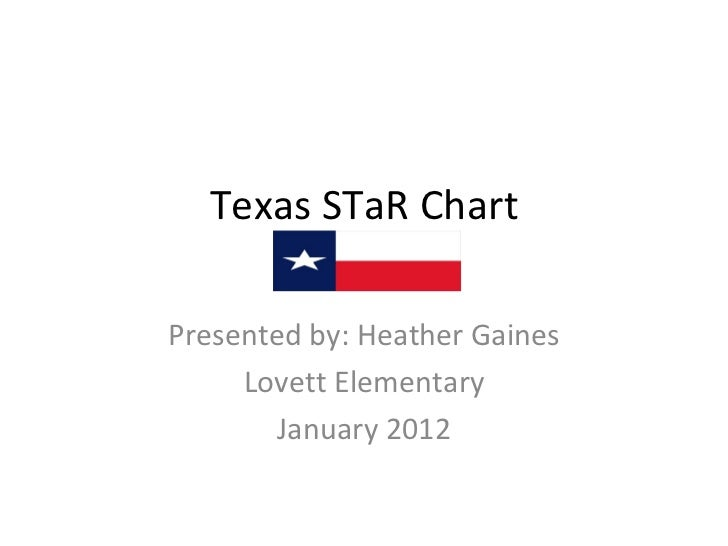 Texas STaR Chart Presented by: Heather Gaines Lovett Elementary January 2012