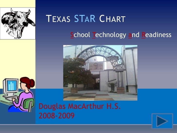 T EXAS STA R C HART         School Technology and Readiness     Douglas MacArthur H.S. 2008-2009