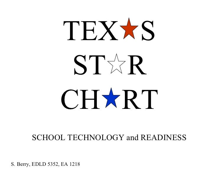 TEX  S ST  R CH  RT SCHOOL TECHNOLOGY and READINESS S. Berry, EDLD 5352, EA 1218