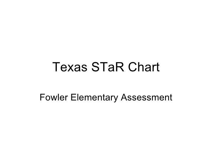 Texas STaR Chart Fowler Elementary Assessment