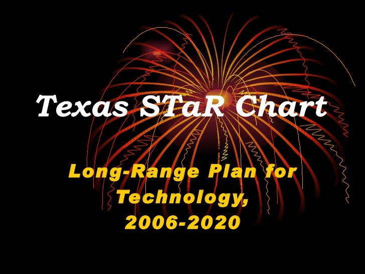 Texas STaR Chart   Long-Range Plan for Technology, 2006-2020
