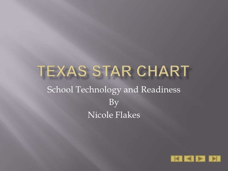 Texas STaR Chart<br />School Technology and Readiness<br />By<br />Nicole Flakes<br />
