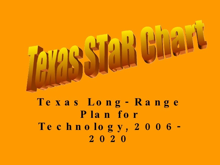 Texas Long- Range Plan for Technology, 2006- 2020 Texas STaR Chart