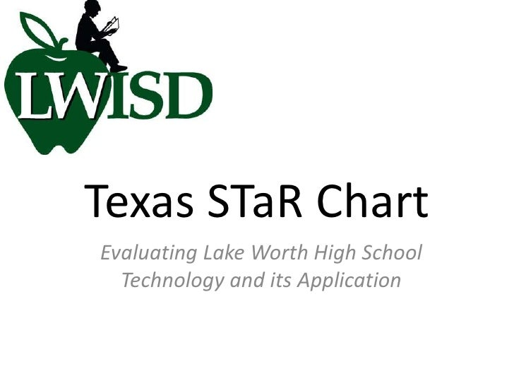 Texas STaR Chart<br />Evaluating Lake Worth High School Technology and its Application<br />