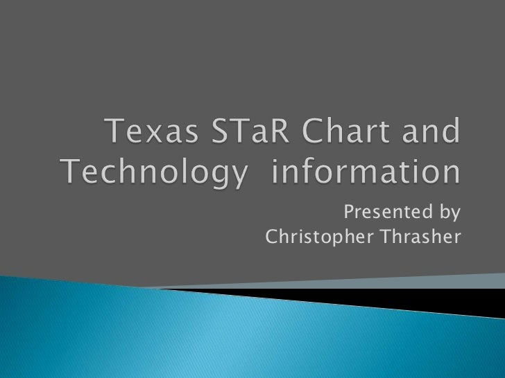 Texas STaR Chart and Technology  information<br />Presented by<br />Christopher Thrasher<br />