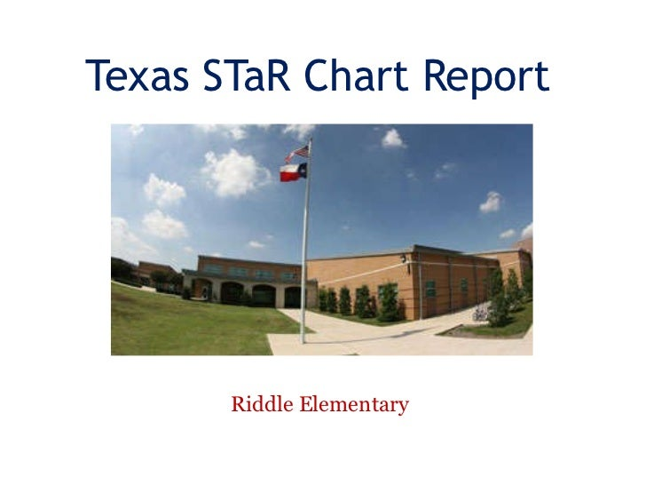 Texas STaR Chart Report Riddle Elementary
