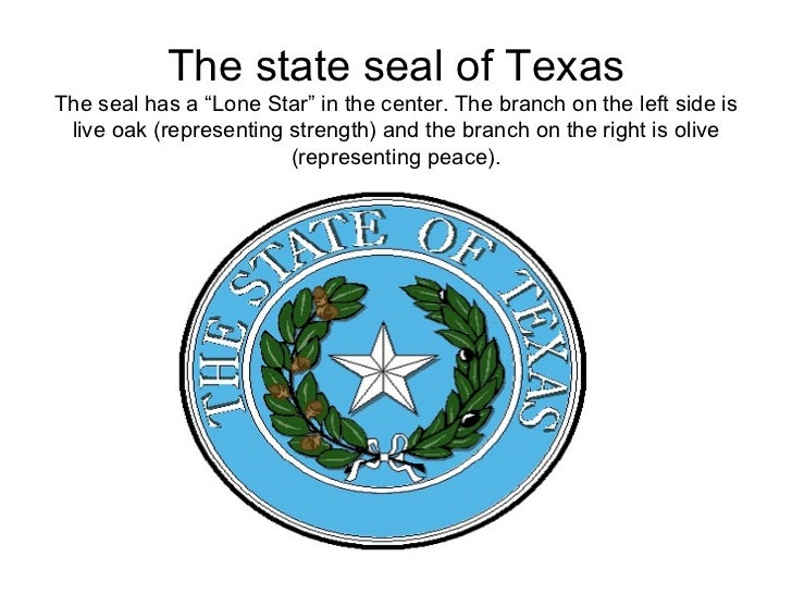 the state seal of texasthe seal has a lone star