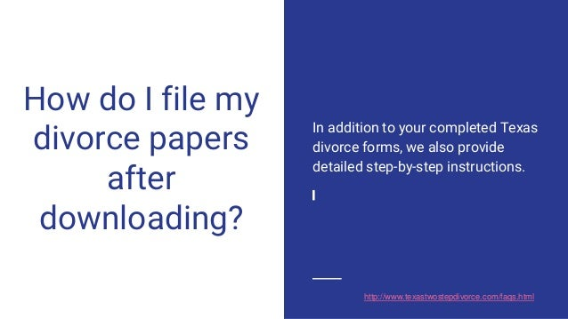 help with divorce papers in texas