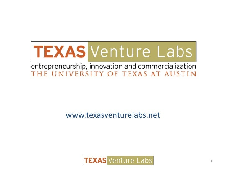www.texasventurelabs.net<br />1<br />
