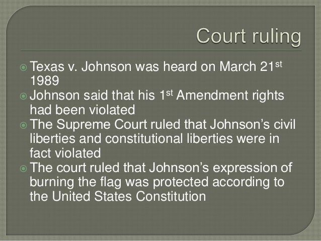 "texas vs johnson essay The concept of acceptance  saved essays save your essays here so you can locate them quickly  the law and defendant in ""texas v johnson"" and ""american ."