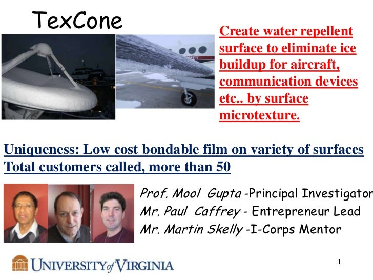 TexCone                       Create water repellent                                  surface to eliminate ice            ...