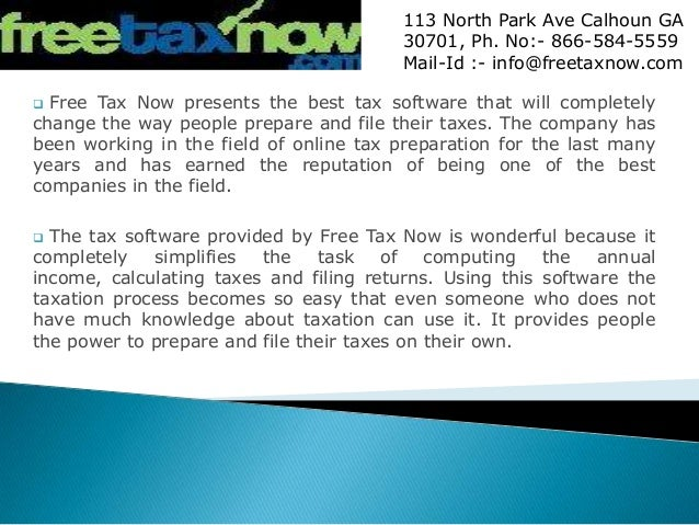 Free Tax Now Provides the Tax Software for Making Taxation Quick and …