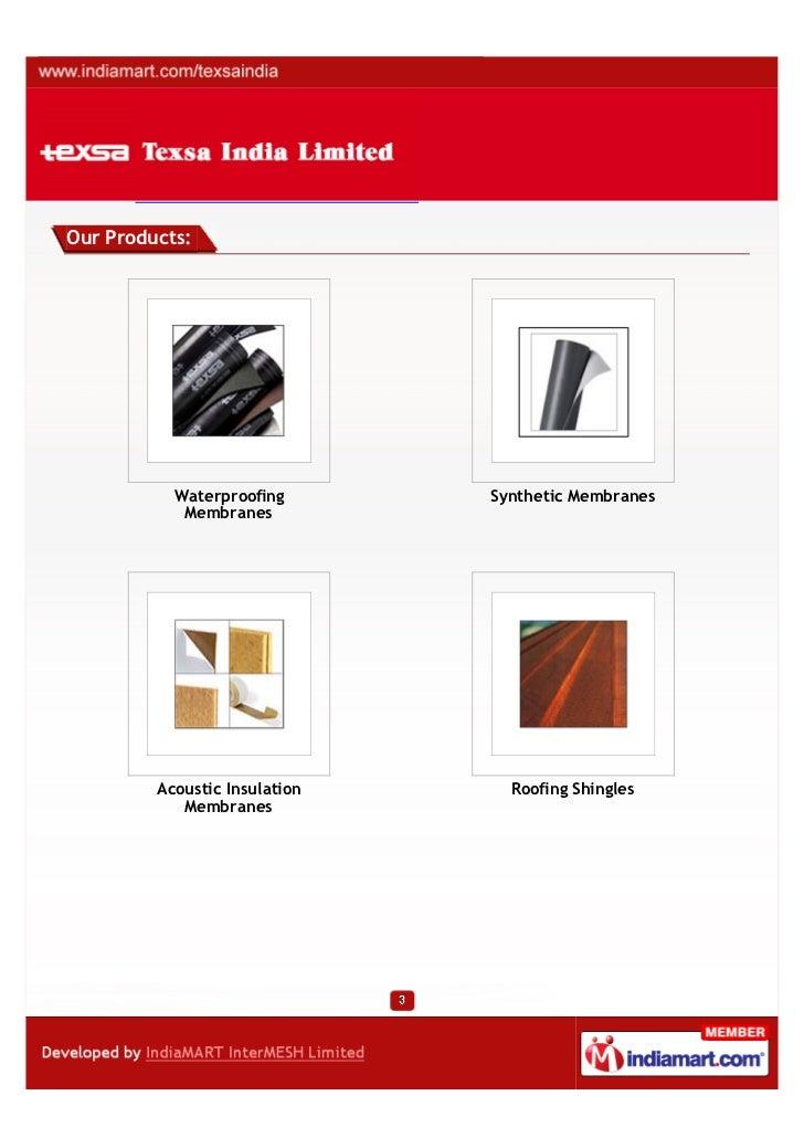 Texsa India Limited, Gurgaon,  insulating boards Slide 3
