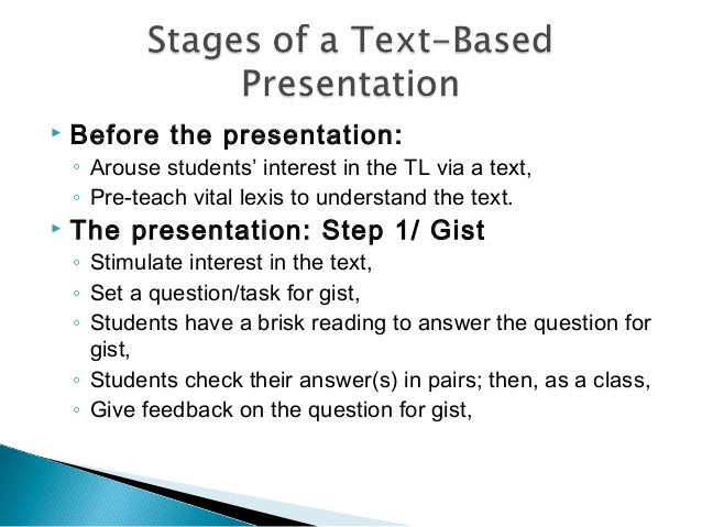 textual presentation