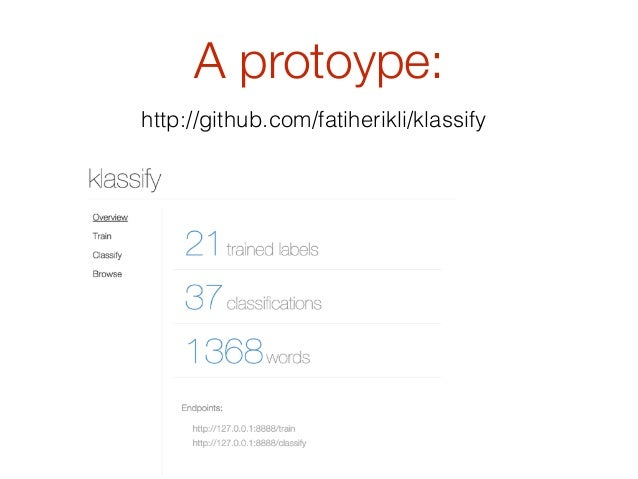 Klassify: Text Classification with Redis