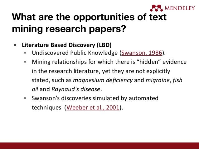 text mining research paper Full-text (pdf) | the time spent by users are almost two or more hours looking for papers that generates the possibility to make a search engine to optimize and.