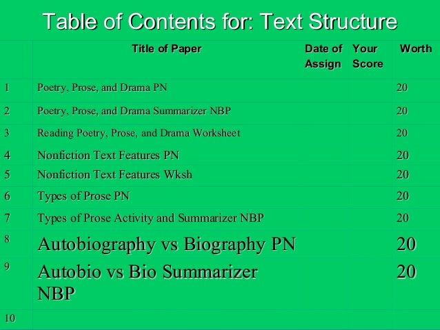 Text Structure L4 Autobiography V Biography
